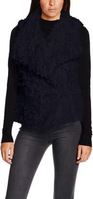 Vero Moda Women's Jayla Faux Fur Vest with Drapey Front