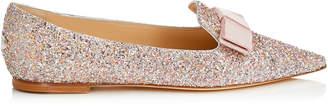 Jimmy Choo GALA Viola Mix Speckled Glitter Pointy Toe Flats
