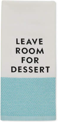 "Kate Spade Leave Room for Dessert"" Kitchen Towel"