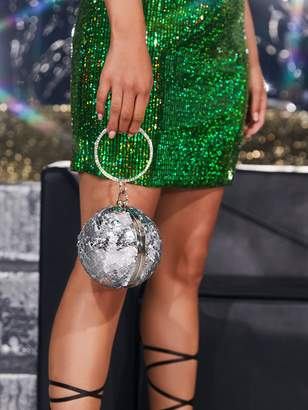 Shein Sequins Decor Round Shaped Clutch Bag