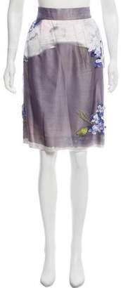 Dolce & Gabbana Hand Painted Silk Skirt w/ Tags
