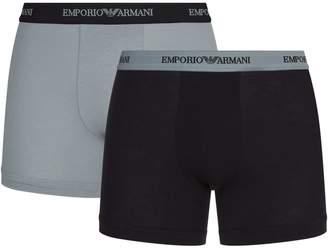 Giorgio Armani Stretch Cotton Boxer Briefs (Pack of 2)