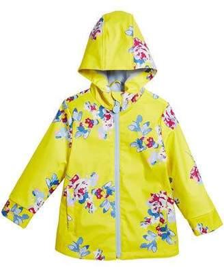 Joules Raindance Floral Hooded Raincoat, Size 3-10