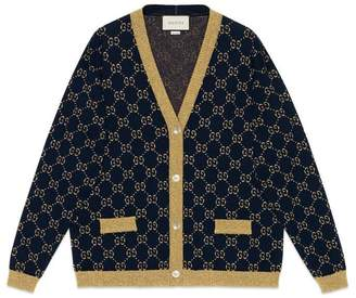 Gucci GG cotton lame cardigan