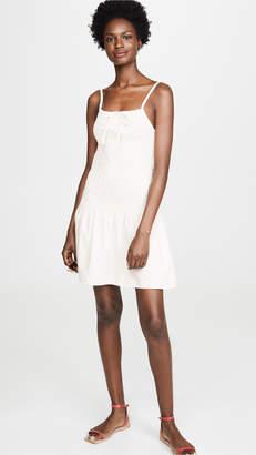 Solid & Striped Smocked Poplin Dress