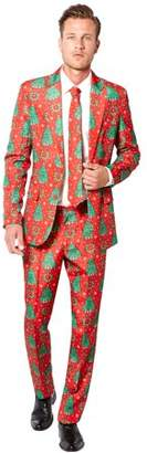 Suitmeister Red Christmas Suit Men's Adult Costume