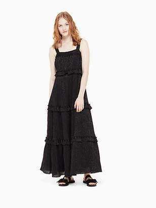 Kate Spade Lurex Gauze Patio Dress, Black - Size XXS