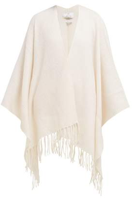 Allude Tasselled Wool And Cashmere Blend Wrap - Womens - White