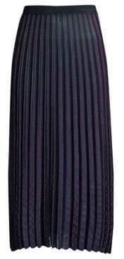 Diane von Furstenberg Klara Metallic Plisse Midi Skirt