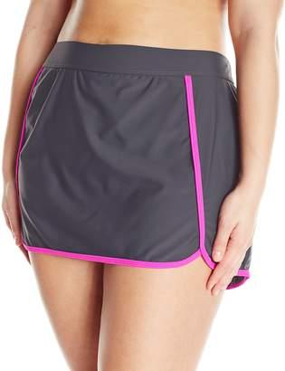 Free Country Women's Plus-Size Skort Bikini Bottom