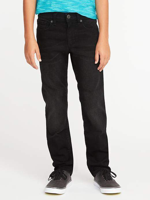 Karate Built-In Flex Max Slim Black Jeans for Boys