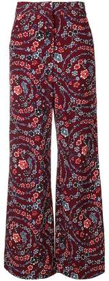 See by Chloe floral palazzo trousers