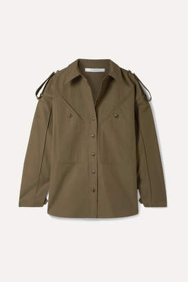 Givenchy Oversized Cotton-canvas Shirt - Army green