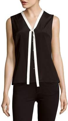 Carolina Herrera Women's Sleeveless Silk-Blend Shirt