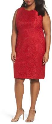 Tahari Shimmer Lace Sheath Dress