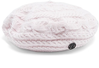 Tal cable-knit wool and cashmere-blend beret