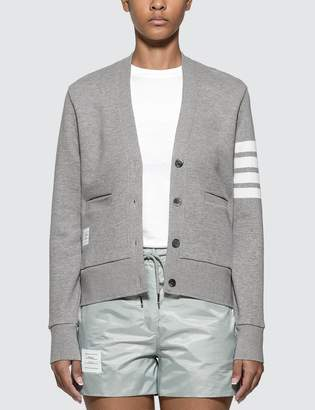 Thom Browne 4-Bar Engineered V-Neck Cardigan