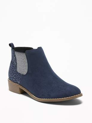Old Navy Embellished Faux-Suede Chelsea Boots for Girls
