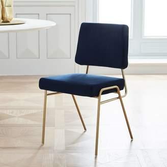 west elm Wire Frame Velvet Dining Chair