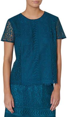 Fantasia Lace Short Sleeve Top