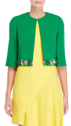 Emilio Pucci Beaded Double Face Wool Jacket