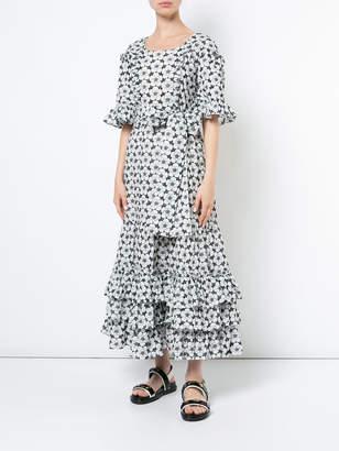Lisa Marie Fernandez Ruffle eyelet maxi dress