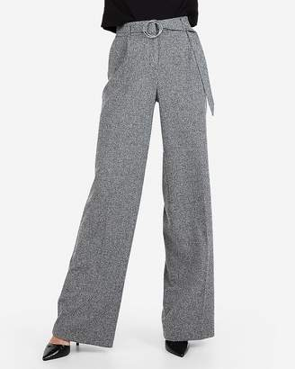 Express High Waisted O-Ring Belted Wide Leg Dress Pant