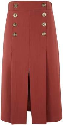 Elisabetta Franchi Celyn B. Button-embellished Skirt