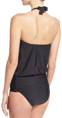 Athena Cabana Solids Cailyn Halter Tankini Swim Top $78 thestylecure.com