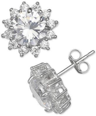 Giani Bernini Cubic Zirconia Starburst Stud Earrings in Sterling Silver, Created for Macy's