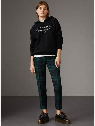 Burberry Embroidered Hooded Sweatshirt