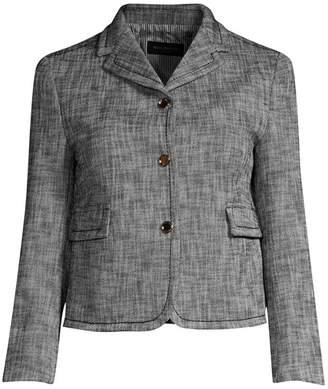 Piazza Sempione Textured Snap Front Cropped Jacket