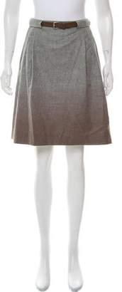 Fabiana Filippi Ombré Virgin Wool Skirt