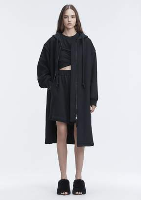 Alexander Wang LONG WOOL JACKET JACKETS AND OUTERWEAR