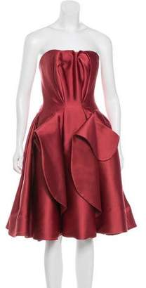 Zac Posen Strapless A-Line Dress
