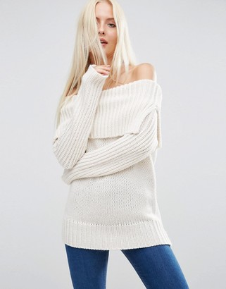 ASOS Sweater with Off Shoulder Detail $49 thestylecure.com