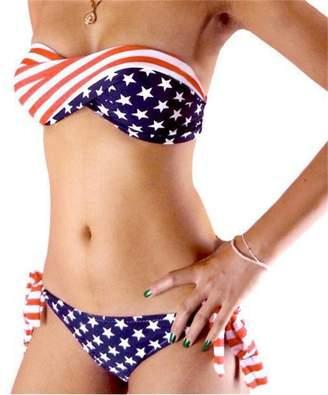 d0bab63da56 at Amazon Canada · R-LivE Womens Twist Bandeau Padded Bikini Set USA  American Flag Swimsuit Swimwear