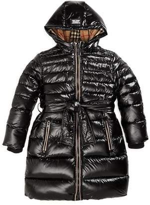 Burberry Girls' Sharona Down-Filled Hooded Puffer Jacket - Little Kid, Big Kid