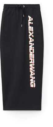 Alexander Wang Alexanderwang wash + go terry logo skirt