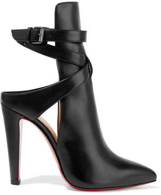 Christian Louboutin - Pointipik 100 Leather Pumps - Black $1,195 thestylecure.com