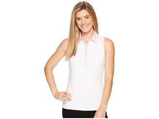 Under Armour Golf Zinger Sleeveless Stripe Polo Women's Sleeveless