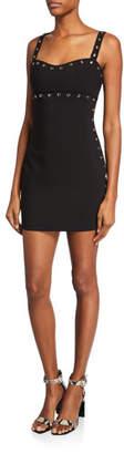 LIKELY Tessa Sweetheart Sleeveless Mini Dress with Grommets