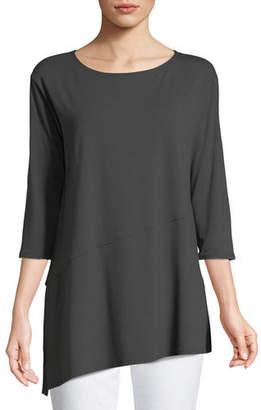 Eileen Fisher Viscose Jersey Asymmetric Top, Petite