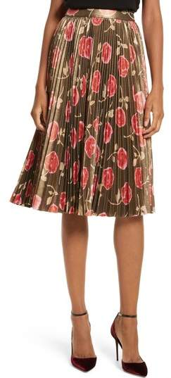 Women's Kate Spade New York Hazy Rose Pleated Metallic Skirt