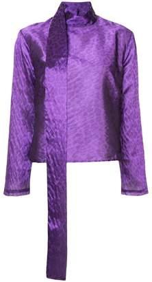 Taller Marmo leopard print blouse