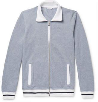 Orlebar Brown Kirque Mélange Cotton-Piqué Track Jacket