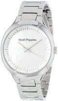Hush Puppies (ハッシュ パピー) - ハッシュパピーWomen 's HP。3784l.1501 Signature Roundステンレススチールホワイトダイヤル時計