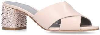 Gina Leather Bourdin Mules 80