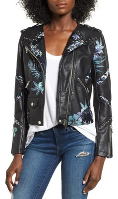 Women's Blanknyc Painted Moto Jacket $148 thestylecure.com