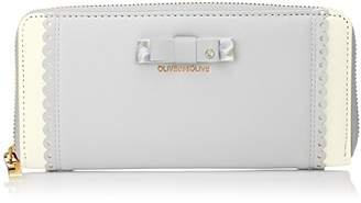 OLIVE des OLIVE (オリーブ デ オリーブ) - [オリーブ デ オリーブ] 長財布 フローラルリボン ラウンド OLMS-0022 SA サックス